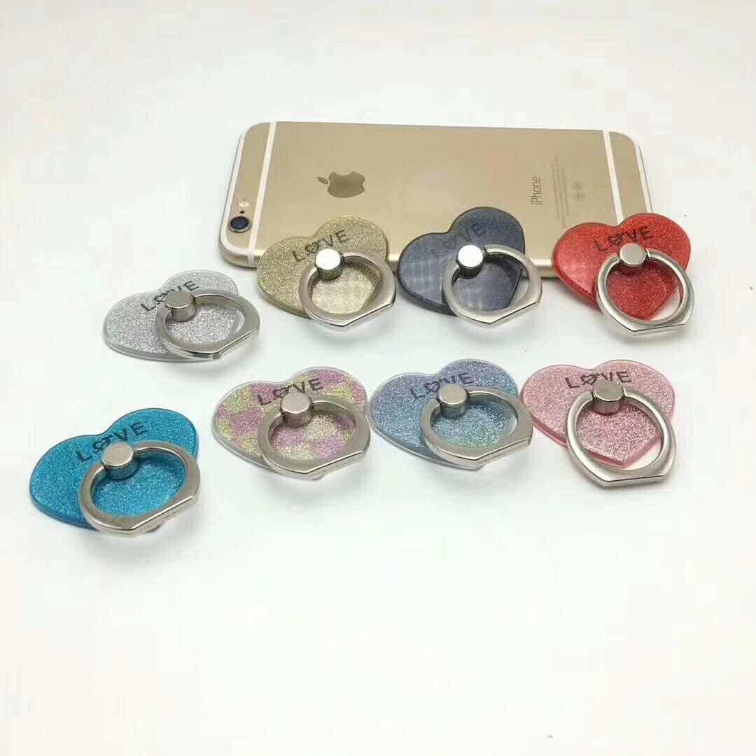 2017 Hot New Socket fidget Creative Love Heart Shaped Mobile Phone Ring Bracket Moblie phone holder easy to hold phone