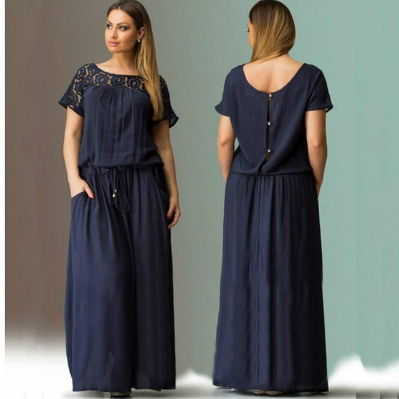 6b74b1d9604 ... Dress Big Sizes 2016 New Women Summer Plus Size Long Dress Maxi Party  Dress Casual Dress Vintage Vestidos L 5XL 6XL Ladies Cocktail Dresses Womens  Black ...
