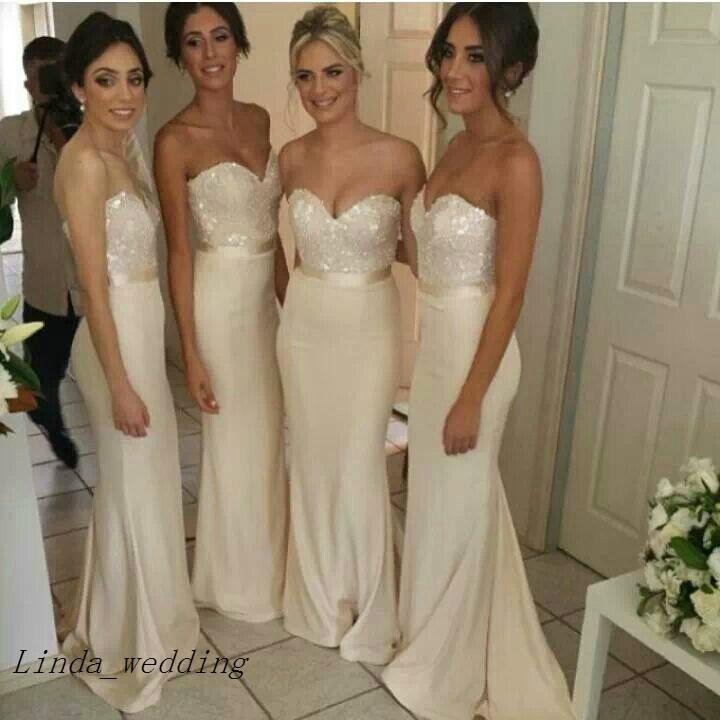 Mermaid Bridesmaid Dresses Hot Sale Sweetheart Sash Belt Long Bridal Party Maid of Honor Dress