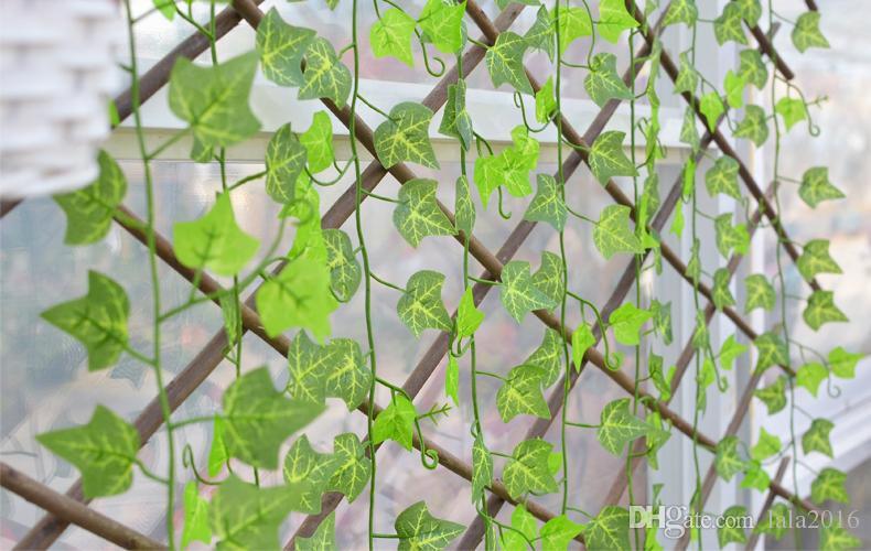 96mNovelty Home Decor Wall Hanging Plant Artificial Sweet Potato Vine Climbing Ivy For Bar Restaurant Garden Decoration Supplies