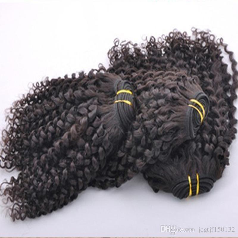 Capelli vergini ricci crespi mongoli di buona qualità 8A Capelli ricci crespi afro 3 pezzi / lotto fasci di tessuto mongolo
