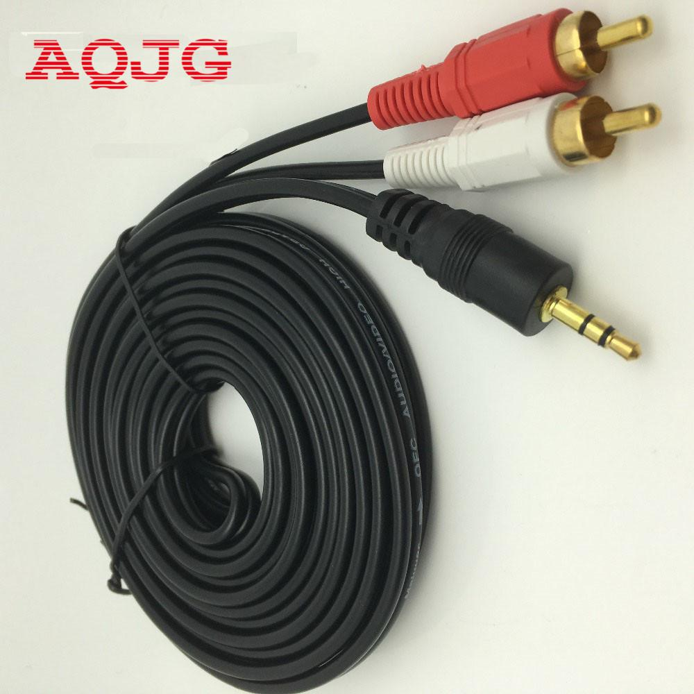 Wholesale- 3.5 MM Male Jack to AV 2 RCA Male Stereo Music Audio ...
