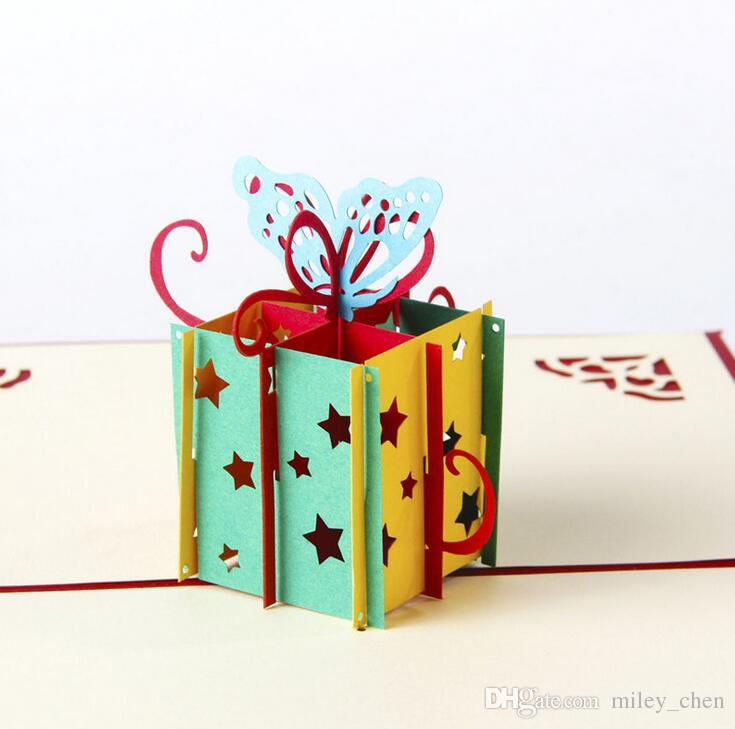 3D Pop Up Greeting Cards Funny Gift Box Happy Birthday Thank You Christmas Gifts Free Ship Canada 2019 From Miley Chen CAD 214