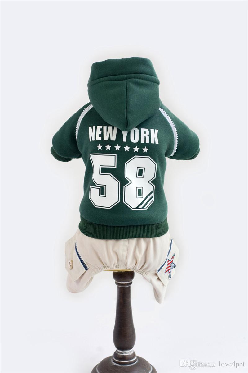 A10 Hund Baumwollmantel für 4 Beine - New York 58 Design Haustier warme Kleidung Haustier Hund Winter warme Kleidung