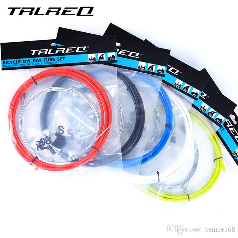 MTB Bike Brake Line Tube Kits 5mm Mountain Road Bicycle Brake Cable and 4mm Shift Gear Derailleur kits Cycling Accessories PVC