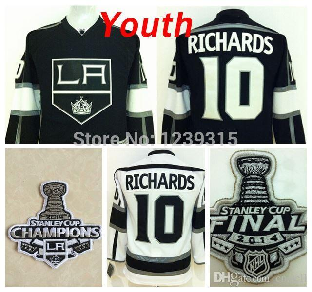 online store f38c7 75880 Low Price/Youth Los Angeles Kings #10 Mike Richards Jersey Kids LA Kings  2014 stanley cup Champions Home Black Road White Ice Ho