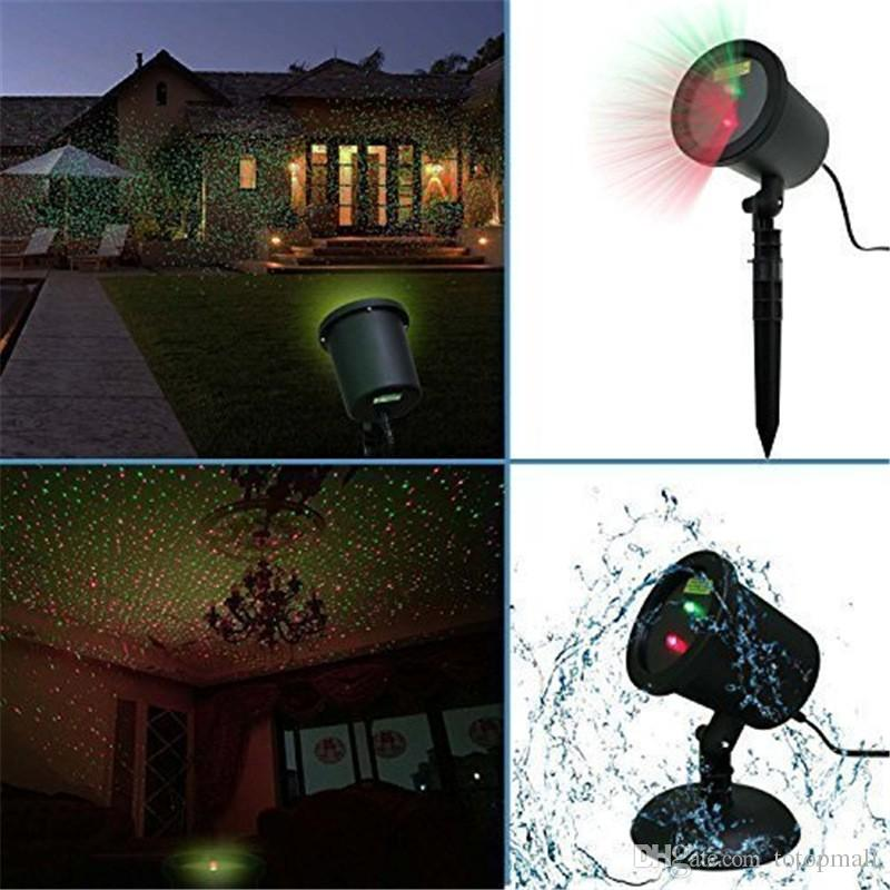 outdoor laser christmas lights projectors waterproof star red and green led spotlights for garden house yard patio landscape christmas laser lights