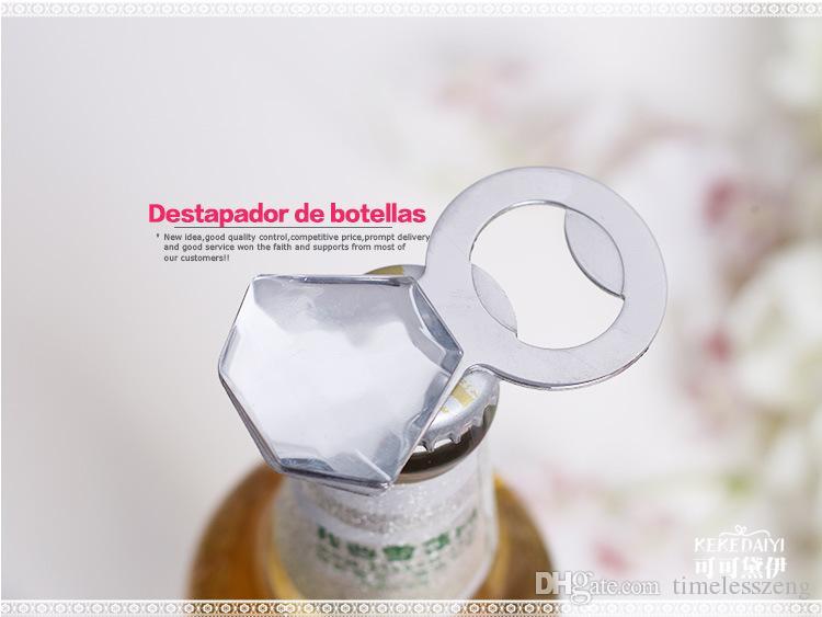 Kreativer Flaschenöffner verheiratetes Geschenk Der Ehering Flaschenöffner der Diamantring Flaschenöffner Geschenke für Gäste Partyartikel