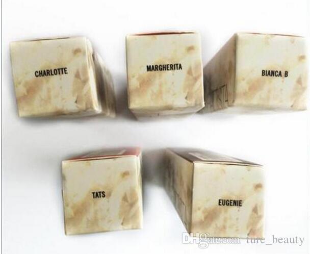 VENTA CALIENTE Marca Profesional Lápiz Labial de Maquillaje Gia Valli Colección Mate Lápiz Labial 3g Tiene es Con Nombre en Inglés 50 Unids / lote