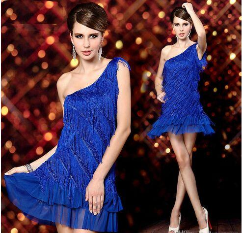 8aad3924287 2019 2018 Latin Ballroom Dancing Dresses Blue Black Red Tassel Dance Wear  Womens Latin Party Dresses Cha Cha Rumba Samba Tango Dress From  Dancingqueen88