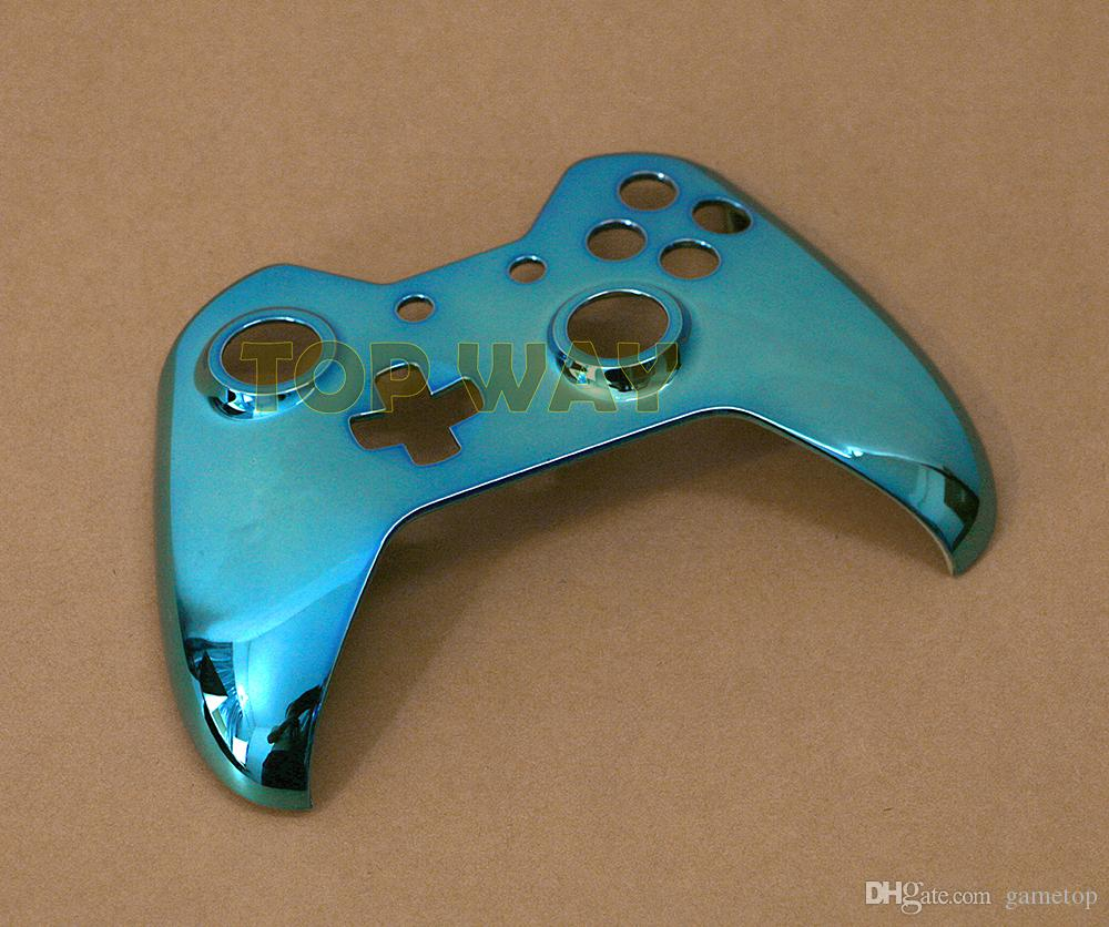 High quality plated metal wireless controller housing case top cover for xbox one controller front faceplate replacement