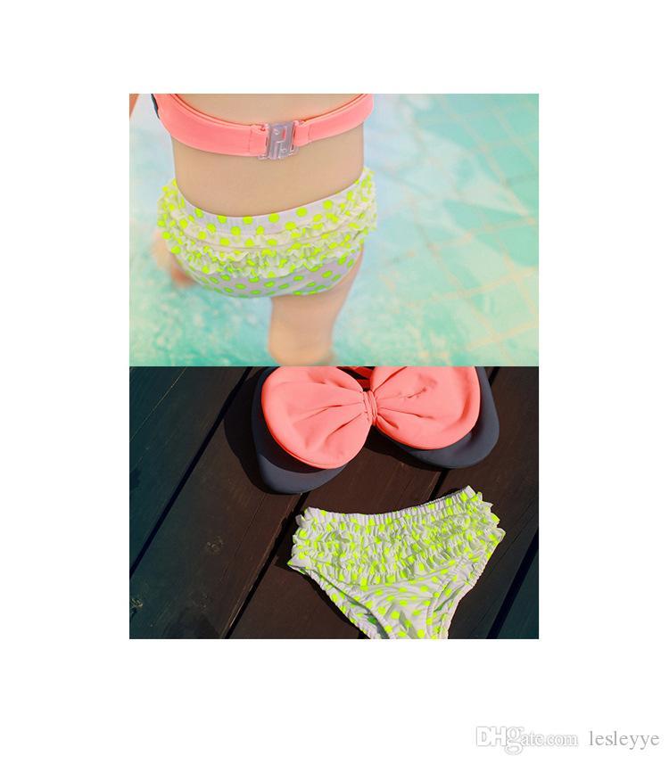 Summer Baby Swimsuit Bikini Infantil Swim Bathing Suit Skirt Costume Swimwear Straps Plaid Printed For Girls Kids ruffled swimwear swimsuit