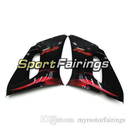 Full Fairings For Yamaha YZF600 R6 YZF-R6 98 - 02 1998 1999 2000 2001 2002 Injection ABS Plastics Motorcycle Fairing Kit Red Gloss Black