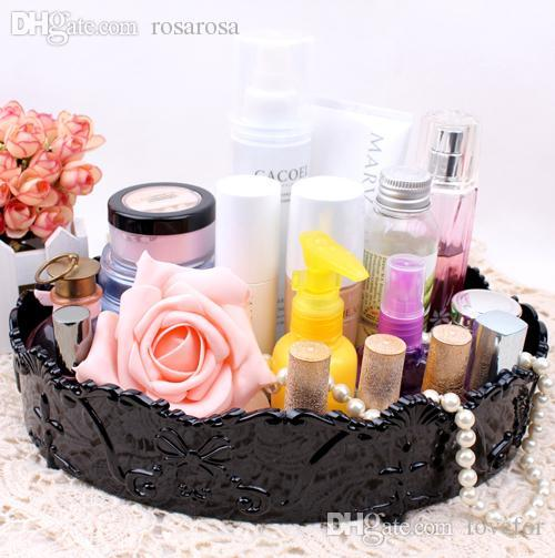 2018 Wholesale Oversize Vintage Elliptical Cosmetic Storage Box Jewelry Storage Trays Perfume Skin Care Products Finishing Box Makeup Organize From Lovefor ... & 2018 Wholesale Oversize Vintage Elliptical Cosmetic Storage Box ...