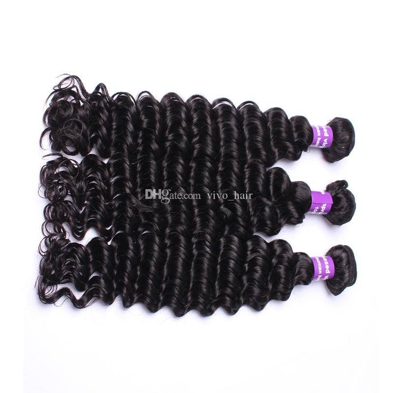 Free Middle 3 Way Part Silk Base Lace Frontal 13x4 With Weaves Deep Curly Virgin Brazilian 3Bundles With Silk Top Frontals
