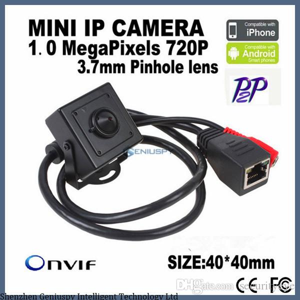 P2P Onvif Support Phone Watch Factory Wholesale 1.0 MegaPixels 720P 3.7mm Pinhole Lens H.264 Onvif Indoor MINI IP Camera For Bank ATM