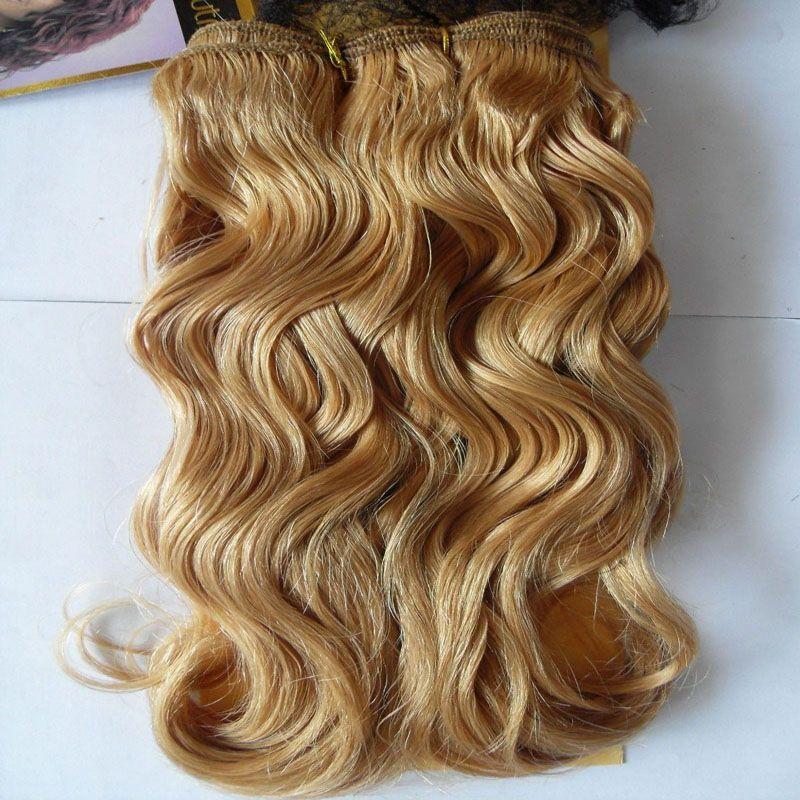 Capelli brasiliani biondi tessono i capelli brasiliani del tessuto dei capelli dell'onda del corpo Honey Blonde Weave Hair 100g