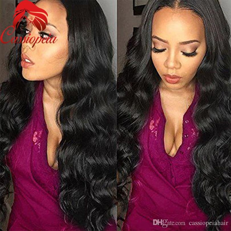 Glueless Silk Top Full Lace Wigs Water Wave Brazilian Silk Base Lace Front Human Hair Wigs With Baby Hair For Black Women Cheap