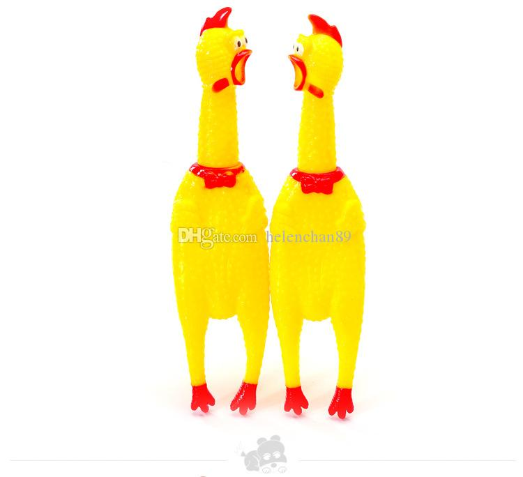Cute Yellow Chicken Shape Sound Pet Toy Dog Cat Non-toxi Rubber Chewing Toys Drop Shipping Fast Delivery Time
