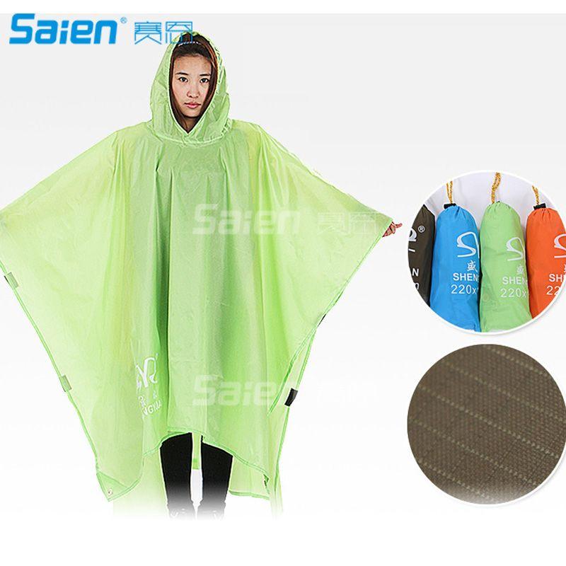 b3e58fc5f0e5c 2019 3 In 1 Waterproof Cape Groundsheet Shelter Festival Poncho Outdoor Camping  Hiking Backpack Tarp Rain Cover Raincoat Rain Cape From Sz_saien, ...