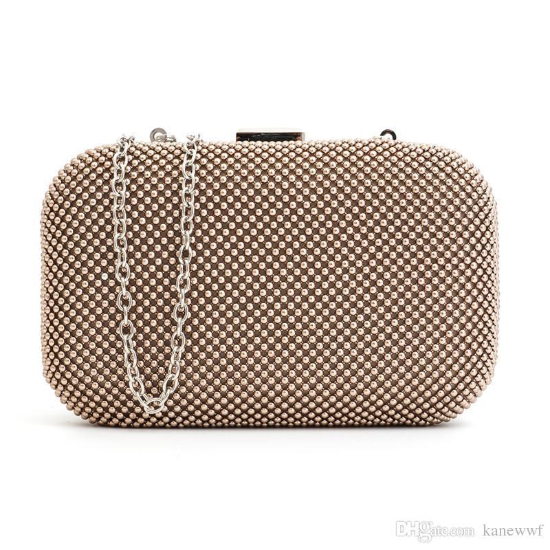 Zwei Stil Aluminium Flakes Neue 2016 frauen Mini Abendtasche Mode Kupplung Bankett Tasche Mädchen Umhängetasche Messenger Bag 8025