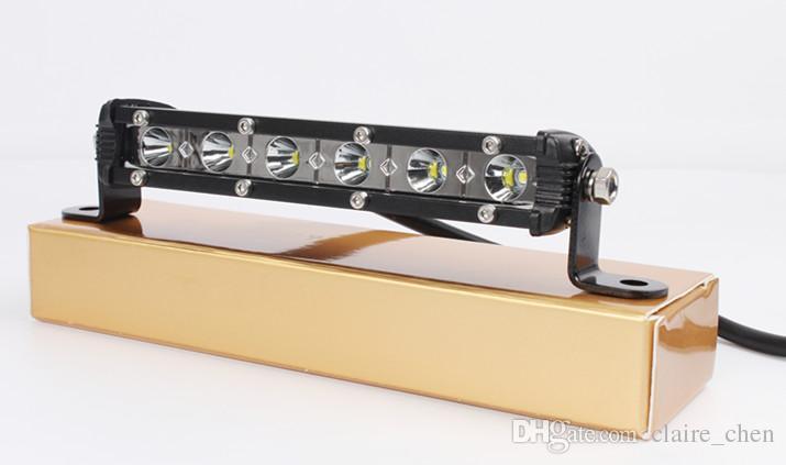 "mini light bar 18w 7"" cree led offroad driving light bar 12v ip67 for car offroad SUV ATV Truck led lamp"