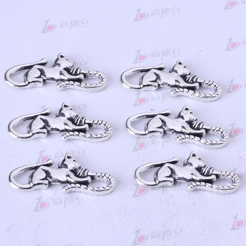 Gato y ratón Colgante de joyería de bricolaje pulseras o collar de aleación de plata antigua / encantos de bronce 200 unids / lote 90z
