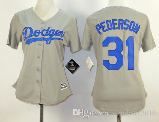c61cbef85 ... Los Angeles Dodgers Women Jersey 22 Clayton Kershaw Jersey 31 Joc  Pederson 42 Jackie Robinson 2016 ...