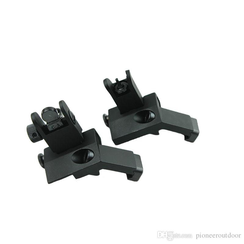 Front and Rear flip up 45 Degree Rapid Transition Backup Iron Sight