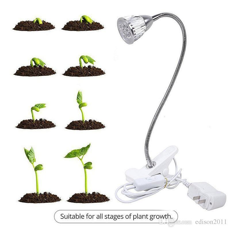 10 adet Yüksek kalite dairesel 5 W bitki büyüme lambası çiçeği meyve fide ve egetables etli bitkiler büyümek led ışık kırmızı mavi ışık