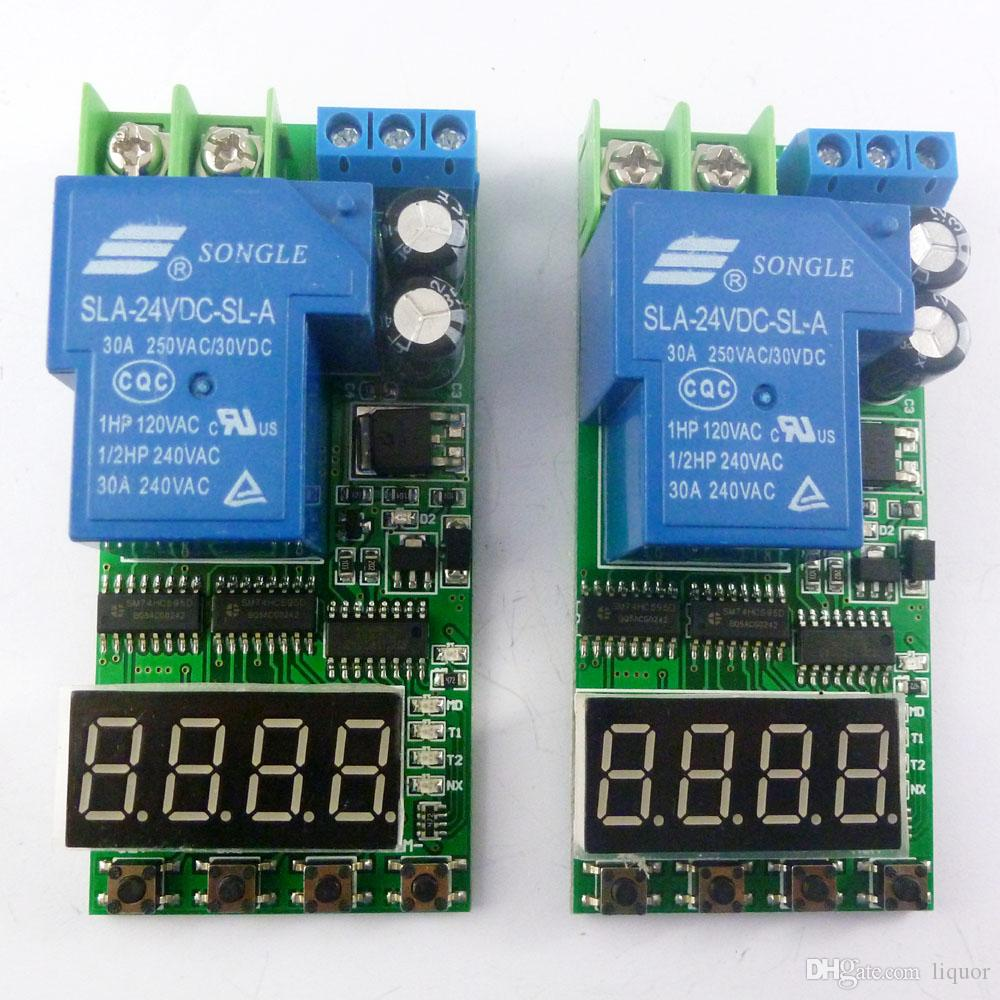 Io23c01 Dc 12v 30a High Power Delay Relay Board On Off Self Locking Push Button Selflock Switch Square Led Light Momentary Latching Time 2ch Timer Online With 2076 Piece Liquors