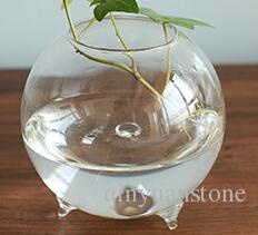 Glas vaser blomkrukor plantor kristall glas krukor hem dekoration bröllop glas krukor fisk tankar skrivbordsvaser tydliga hemkrukor