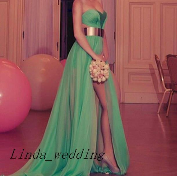Freies Verschiffen Uzun Abiye Elbise Modelleri langer Abschlussball kleidet neue Ankunft de Soiree Robe-Chiffon- Abschlussball-Kleid-Abendkleider Vestidos De Fiesta