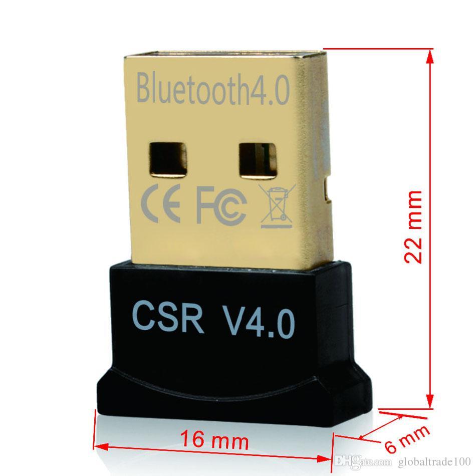 مصغرة USB محول بلوتوث V4.0 + EDR USB دونغل CSR8510 اللاسلكي USB الارسال محول استقبال الموسيقى للكمبيوتر PC