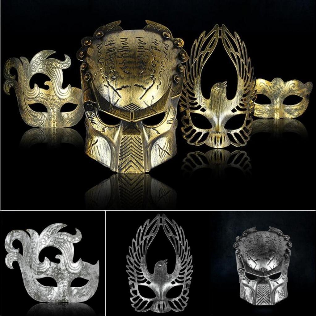 Men Retro Color Halloween Masks Immortal Bird Phoenix Feather ...
