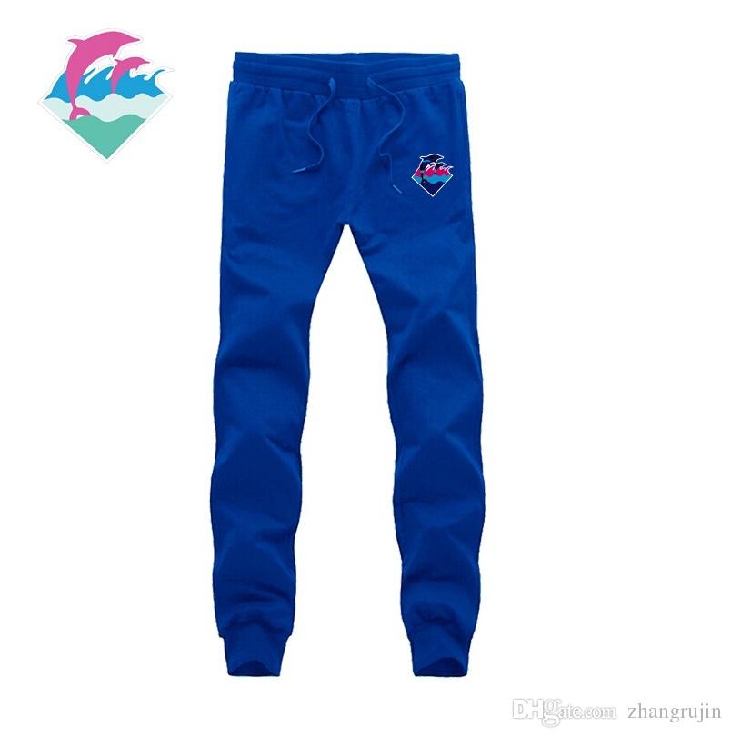 Pink Dolphin Letter Printed Casual Pants Men Women Loose Wei Sweat Pants Hip Hop Sport Trousers Pink Dolphin Pants