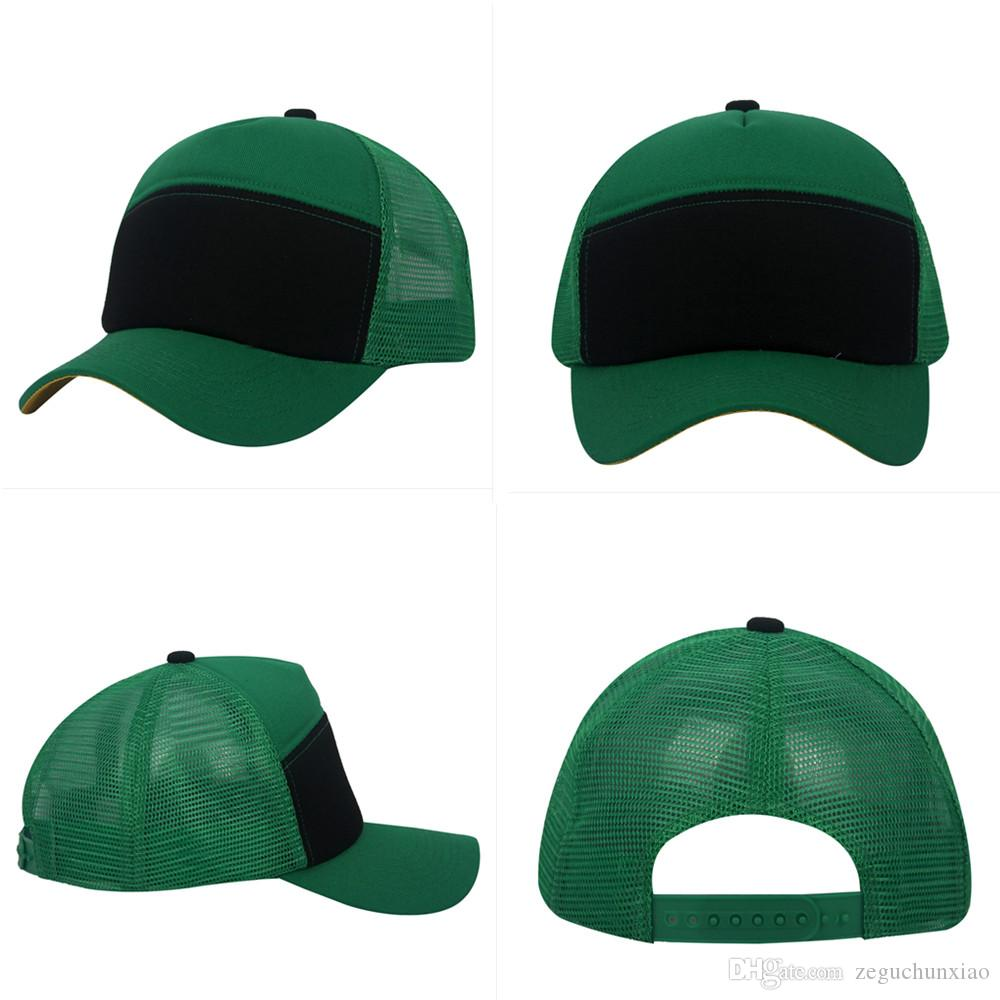 Black Green Trucker Cap Adult Mesh Caps Blank Trucker Hats Snapback Hats  Accept Custom Made Logo Canada 2019 From Zeguchunxiao f0982bcdaa71