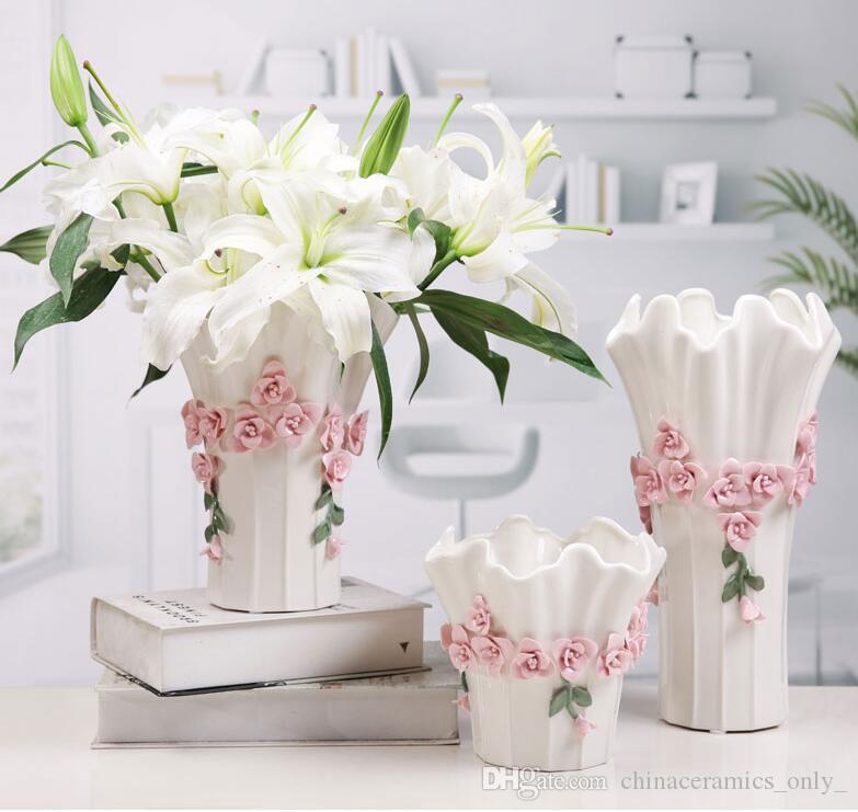 DHgate.com & Fashionable ceramic vase to arrange a dining room contemporary simple and simple flower adornment of adornment of adornment