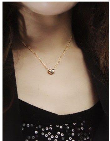 Gerdanlık Kısa Altın Kaplama Chokers Kolye Kadınlar Marka Yeni Moda Küçük Alaşım Kalp Klavikula Zincir Neckalce Toptan Drop Shipping SN429