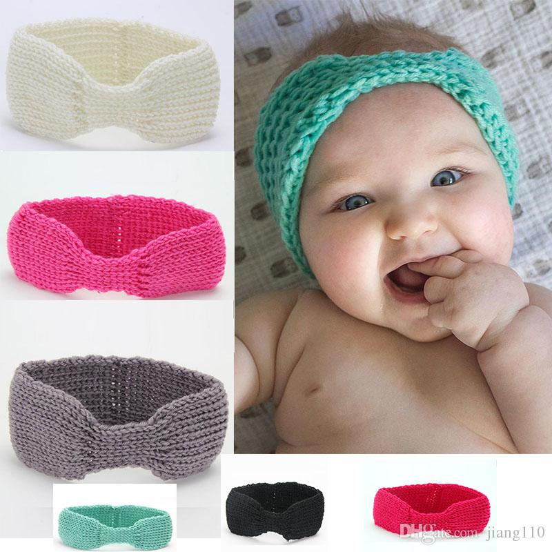 Crochet Knotted Headband Earwarmer Knot Hair Band Knitted Winter ...