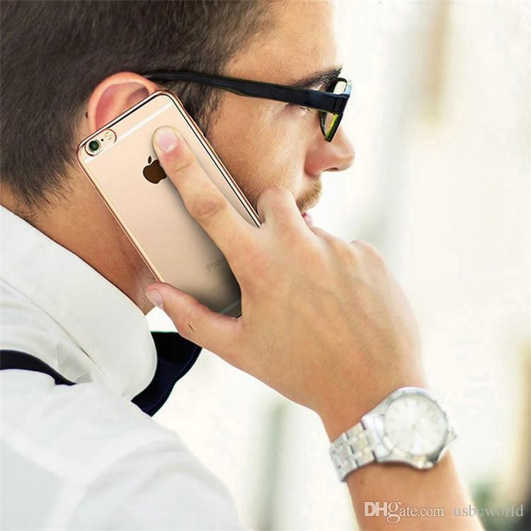 S8 S8 Artı Altın Elektroliz TPU Kılıfları S7 S6 Kenar Iphone X 7 ARTı SE 5 S 6 S Artı