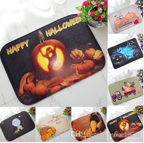 High Quality Halloween Floor Mat Pumpkin Lantern Carpet Shower Bathroom Mat  Toilet Rugs Kitchen Mat Home Decoration Mohawk Carpets Uk Carpet  Installation ...