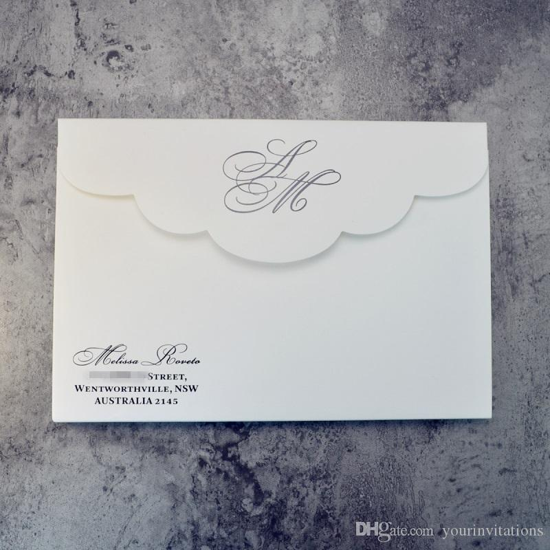 - luxury texture hardcover thick cardboard wedding invitation holder set with customized foil stamp printing and embossing