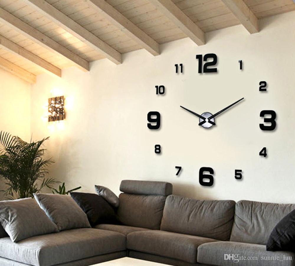 15639f731a4ce7 Acheter Nouveau Horloge Murale Horloges Montre Horloge Murale Diy 3d  Acrylique Miroir Grand Décoratif Maison DIY Quartz Circulaire Aiguille  Moderne De ...