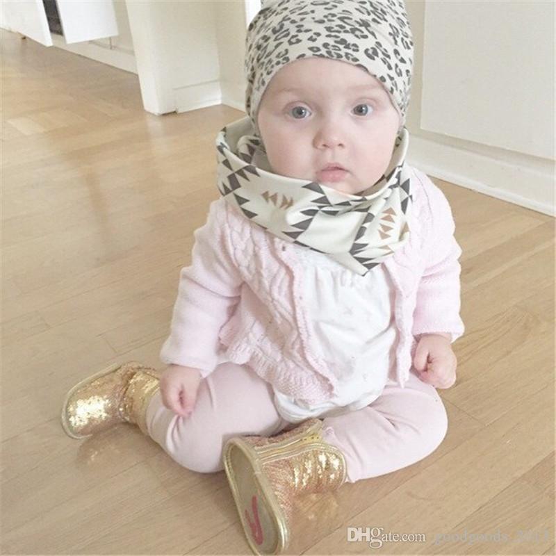 INS Stil Baby Kinder Schal Winter Jungen Mädchen O Ring Halstuch Panda Waschbären Geometrische Muffler Schals Kinder Kleidung Zubehör B947