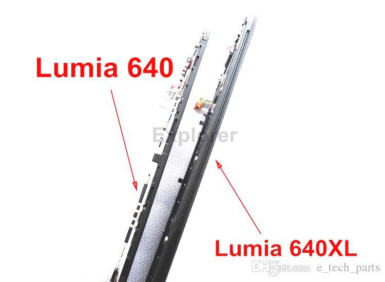 OEM لمايكروسوفت نوكيا Lumia N640XL 640XL VS 640 N640 شاشة LCD + شاشة تعمل باللمس محول الأرقام الجمعية مع الإطار زجاج عدسة اختبار مرت