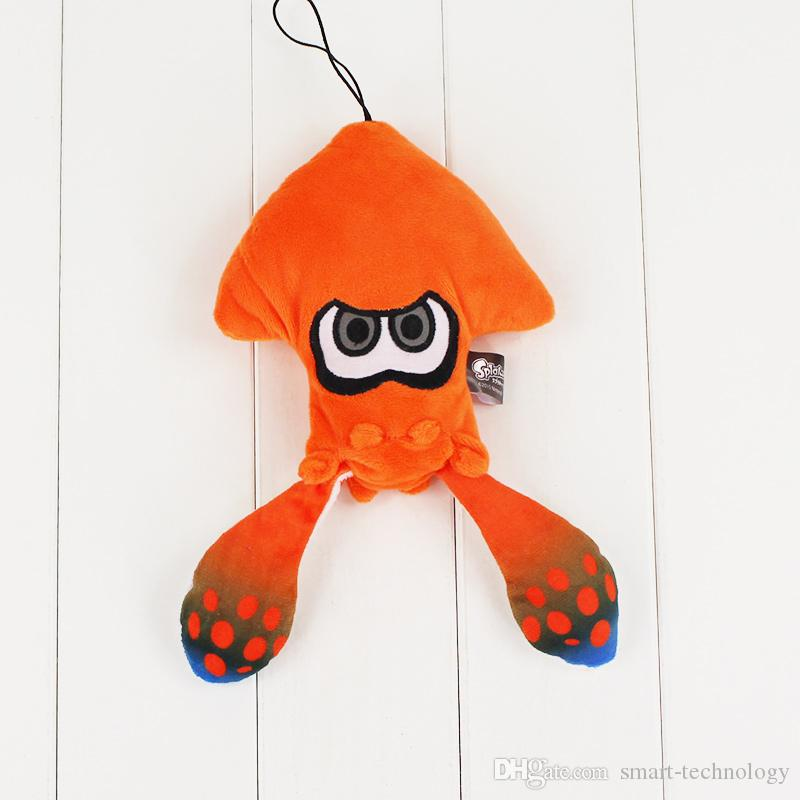 25cm Splatoon Inkling Plush cartoon Doll Toy Squid stuffed Lime green animal doll Pendant cute Christmas gift for kids