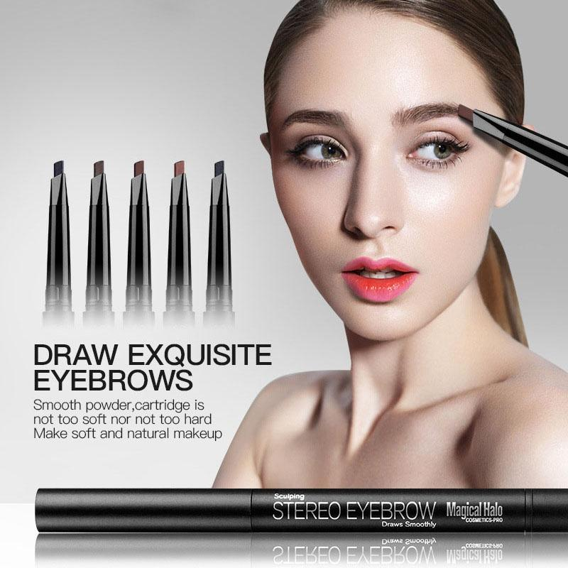 Waterproof Eye Brow Eyeliner Eyebrow Pen Pencil With Brush Makeup