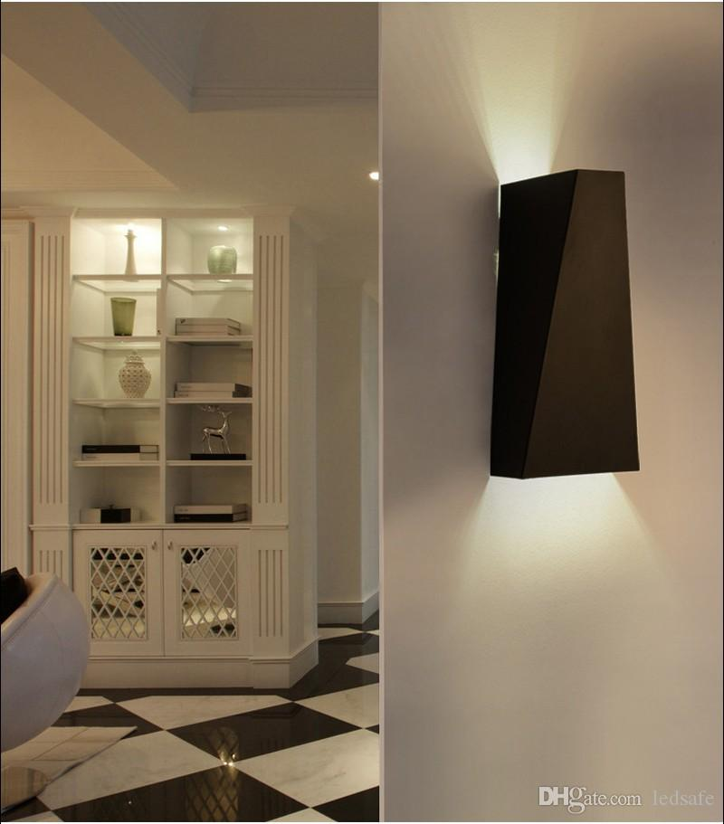 LED الحديثة الجدار مصباح 10W أبيض أسود الأضواء لمبة للنوم غرفة المعيشة ممر الإضاءة لامبارا الدافئة أبيض بارد الأبيض CE روش 10 واط