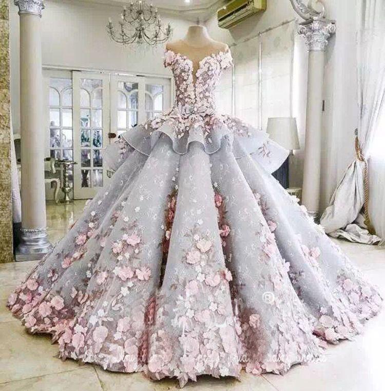 Großhandel Farbe Flowe Farbe Blüte Brautkleider Braut Ball Kleid ...